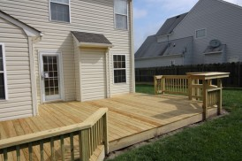 Pressure Treated and Low Maintenance Wood Decks