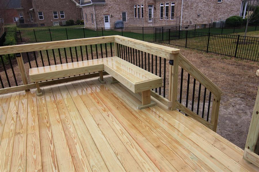Wood Deck3 Custom Decks Amp Screen Porches Virginia Beach