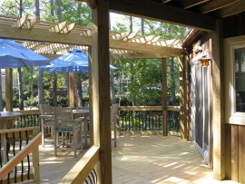 All Weather, Rain Resistant Wood Decks