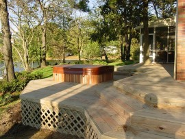 Pressure Treated Custom Wood Decks Virginia Beach, VA