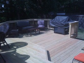 Pressure Treated All Wood Decks